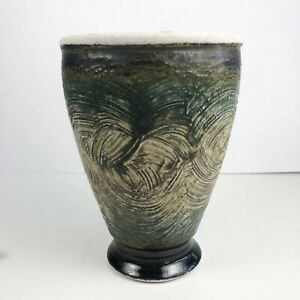 Mid-Century-Vintage-California-Studio-Ceramic-Pottery-Vase-Art-Vessel-Signed