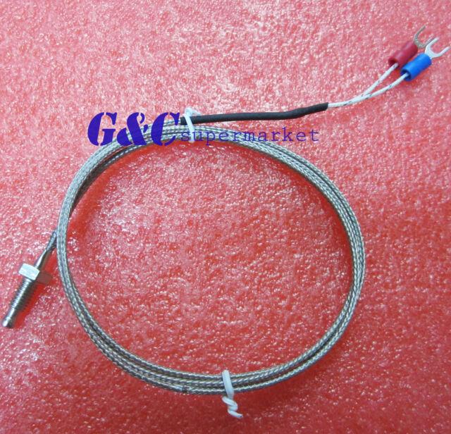 10PCS K-type thermocouple M6 1M screw-type thermocouple temperature probe L1ST
