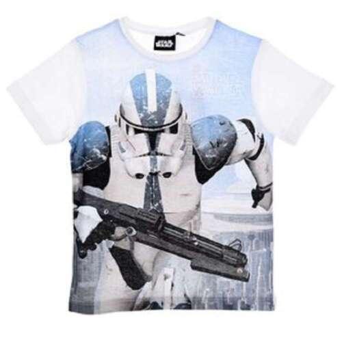 Boys Star Wars Storm-trooper Yoda Tshirt Darth Vader T-Shirt Top tshirt Age 4-10
