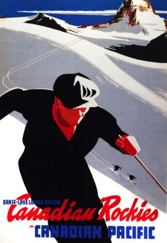 Decor Travel Poster.Fine Graphic Art Design.Ski Sports.Home Wall Design Art.728