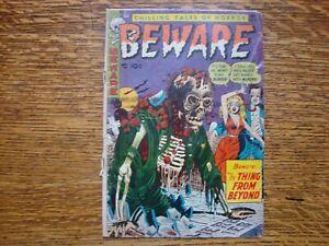 Beware, #6, November, 1953 - Corpse on cover - Trojan Magazines - Fair Condition