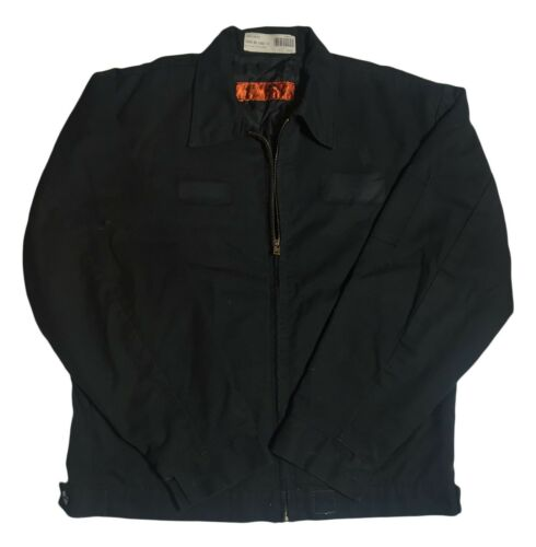 Red Kap Men Slash Pocket Technician Jacket Black Navy Charcoal Brown Green JT22