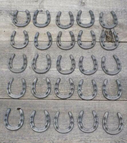 50 CAST IRON HORSESHOES CRAFTS HOME DECOR HORSESHOE HORSE SHOE SMALL TINY CRAFT