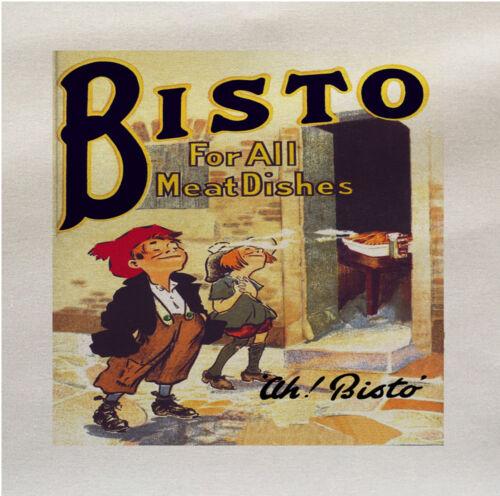 Bisto pour toutes les viandes Publicité Imprimé Tissu Panneau faire COUSSIN Ameublement Artisanat