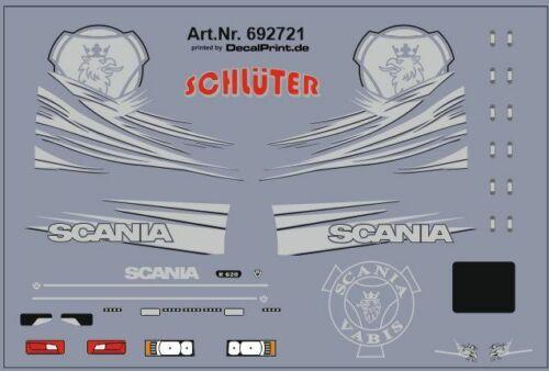 Decals für Truckdekor für Scania R silber 6,8 x 4,6 cm