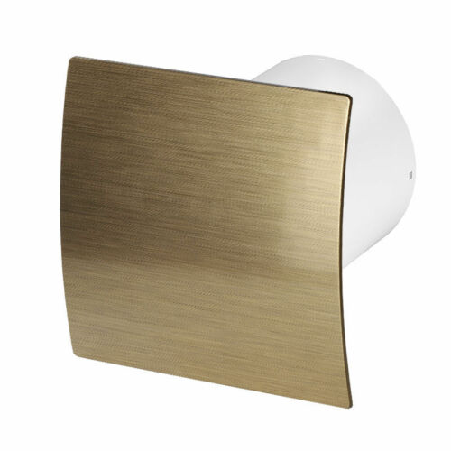 Bathroom Extractor Fan with Gold Curved Front Panel Ventilator