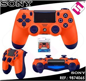 MANDO-PS4-DUALSHOCK-NARANJA-ORIGINAL-PLAYSTATION-4-SONY-INALAMBRICO-WIFI-NOCABLE