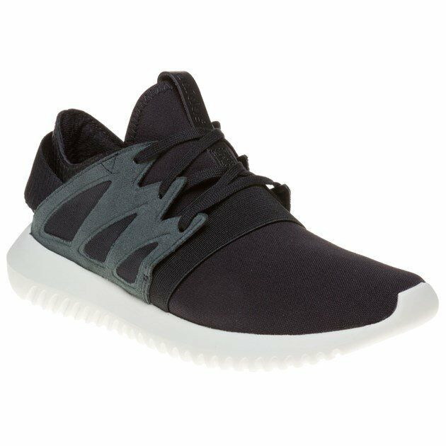 New WOMENS ADIDAS BLACK TUBULAR VIRAL NYLON Sneakers Running Style