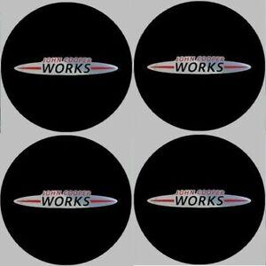 4-autocollants-stickers-MINI-JCW-noir-chrome-35-a-100-MM-pour-centre-de-jantes