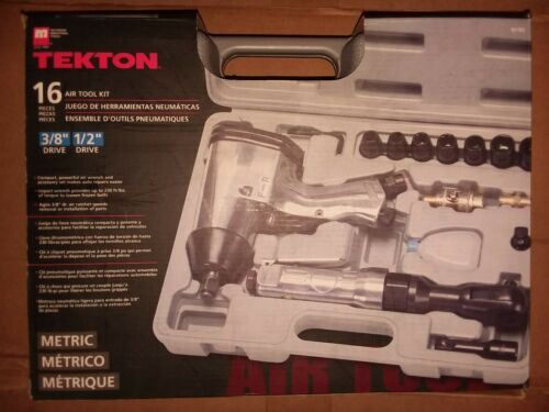 """TEKTON 16 Piece Metric Impact Set 3//8/"""" and 1//2/"""" Drive Air Wrench"""
