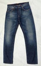 W32 L34 fit W34 Nudie jeans SHARP BENGT org green crispy indigo denim blue wash