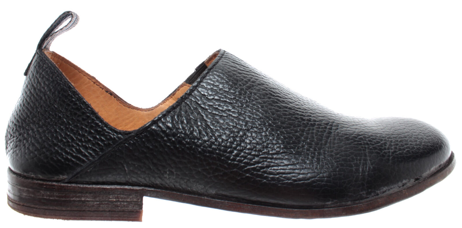 MOMA Chaussures Femmes Mocassin Enfiler 43802-Y1 Vitello noir Cuir Cuir Cuir Noir Made Italie 62fc12