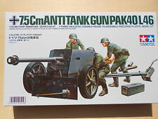 75 MM PACK GUN 40/L46 + 3 FIGURINI - 1/35 - TAMIYA 35047 (1960)