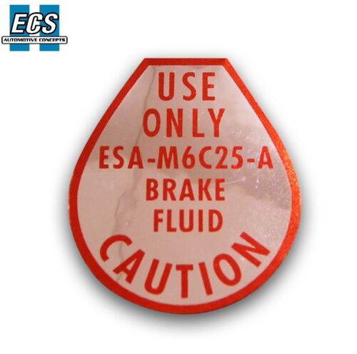 Ford Mustang Disc Brake Decal 1967 1968 1969 Factory Exact Label Sticker