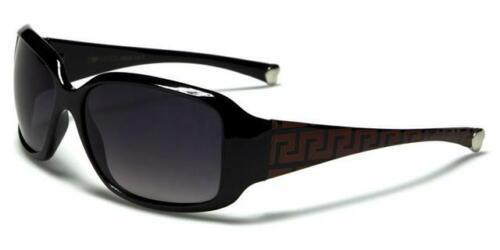 DESIGNER WRAP SUNGLASSES BLACK JACQUARD UV400 RETRO VINTAGE LADIES WOMENS GIRLS