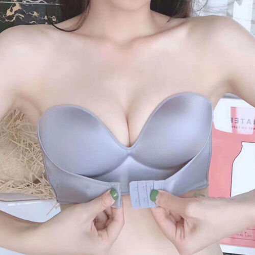 Girl Push Up Adjustable Breathable Bra Strapless Front Buckle Underwear Lingerie