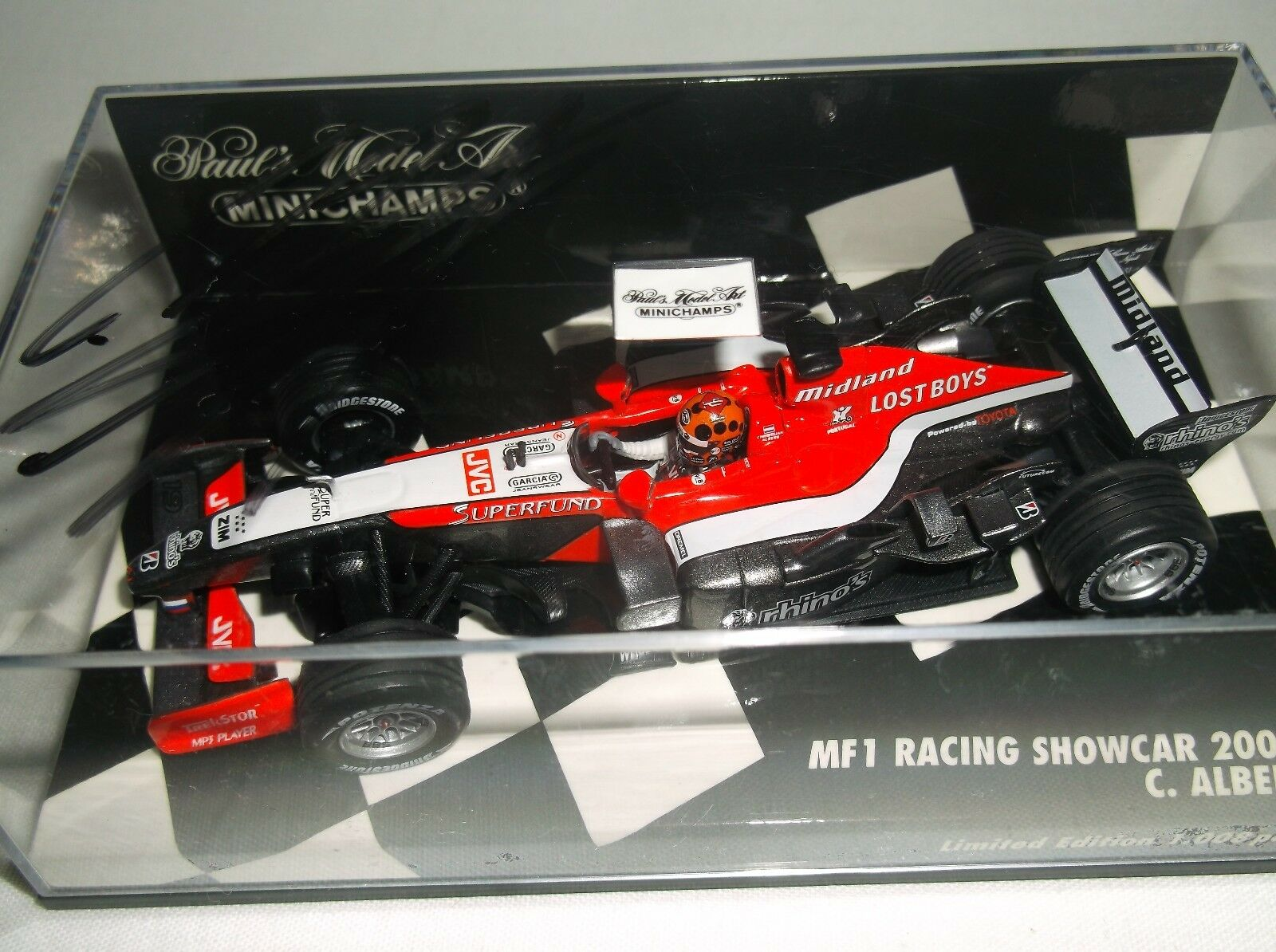 MINICHAMPS 1 43 Midland MF1 Racing Showcar 2006 C. ALBERS - SIGNED