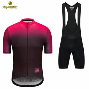 YKYWBIKE cycling jersey set MTB reflective bicycle clothing men gradient color