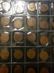 United-Kingdom-lot-of-40-circulated-mix-of-1-and-new-penny-coins-20-3mm-diff-com
