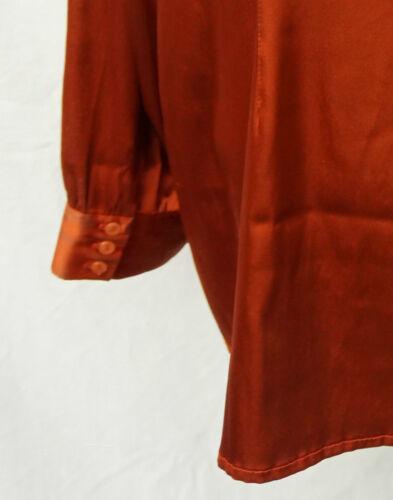 Milenamilano Satin Kupfer Edel 44 Schluppe Satinbluse Np70€ Bluse Seidenbluse wd6EYq0Wx0