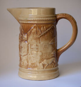 Hull Old Tavern Pitcher Marked 492 Holds 76 Ounces