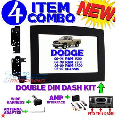 METRA 95-6528B 2006-2010 RAM Trucks Double-Din Dash Stereo Installation Kit