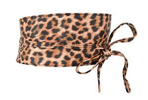 Ella Jonte Leopardo Cinturón Atado de Abrigo Talla Única