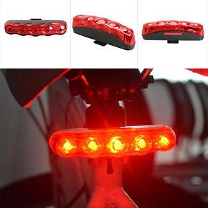 Waterproof-5-LED-3-Mode-Cycling-Bicycle-Bike-Warning-Safety-Rear-Tail-Light-Lamp
