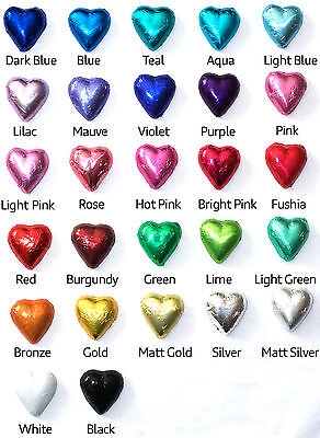 100 CHOCOLATE CADBURY HEARTS - WEDDINGS, BIRTHDAYS, BOMBONNIERE, CHRISTENINGS