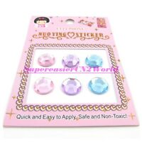Light Color 6 pcs/pack Crystal Home Button Stickers For iPhone 5 4 4S iPad2 #09