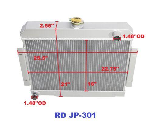 for 72-83 Jeep CJ5 73-75 Jeep CJ6 76-86 Jeep CJ7 3 Row Performance Radiator