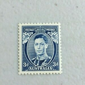 APD572-Australia-1937-KGV-3d-Blue-Die-I-White-Wattles-Perf-13-1-2-x-14-MUH