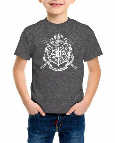 Harry Potter Poudlard Wands Badge Gris Enfants Unisexe T-Shirt