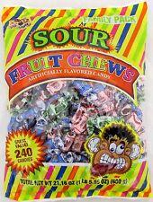 Albert's Sour Fruit Mix Chews Assorted 240 Ct Candy Taffy Bulk Candies Alberts