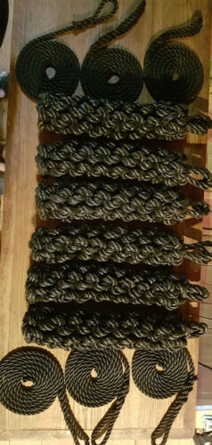 6 x ROPE SIDE FENDERS /& LANYARDS FOR NARROWBOAT OR BARGE CANAL BOAT