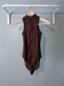 New-Sheer-Body-in-Brown-UK-8-12-EU-36-40-Nylon-Spandex-Streetwear-Bodysuit