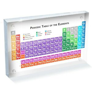 """Periodic Table Science Photo Block 6 x 4"""" - Desk Office Art Gift #8168"""