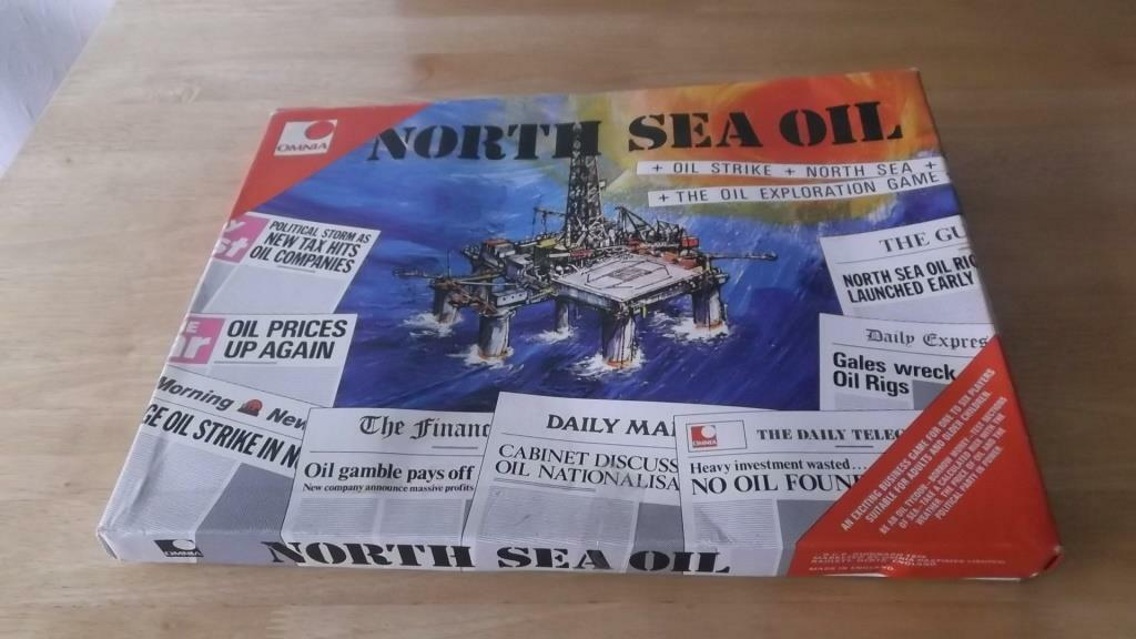 North Sea Oil Board Game 1974 by Omina complete