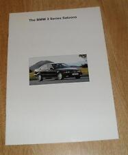 BMW 3 Series E36 Brochure 1993-1994 316I 318I 320I 325I SE