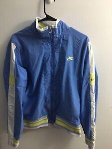 7014d5de2a NIKE Vintage Womens Light Blue Lined Zip Front Windbreaker Jacket ...