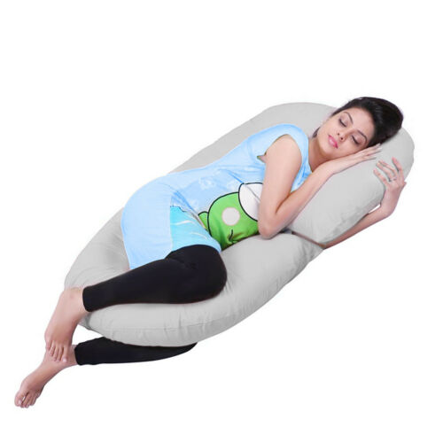 C Shape Total Body Pregnancy Pillow Sleep Maternity Comfort Support Cushion US O