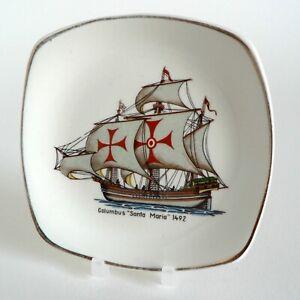 MIDWINTER-HISTORIC-SHIPS-COLUMBUS-SANTA-MARIA-1492-PIN-TRAY-50-039-S-PICKLE-DISH-F42