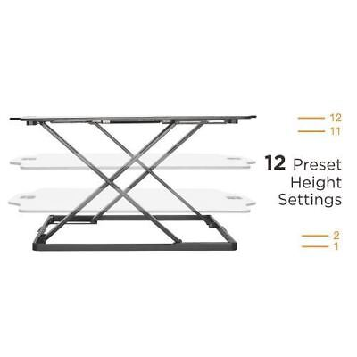Premium Super-Slim Height Adjustable Standing Desk//Tabletop Stand,White,DWS08-01
