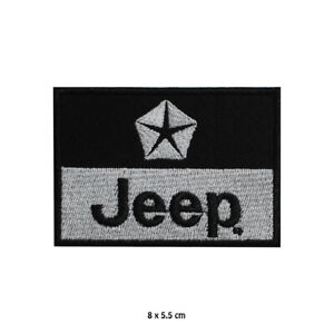 JEEP Motorcar Brand Logo Embroidered Patch Iron on Sew On Badge For Clothes