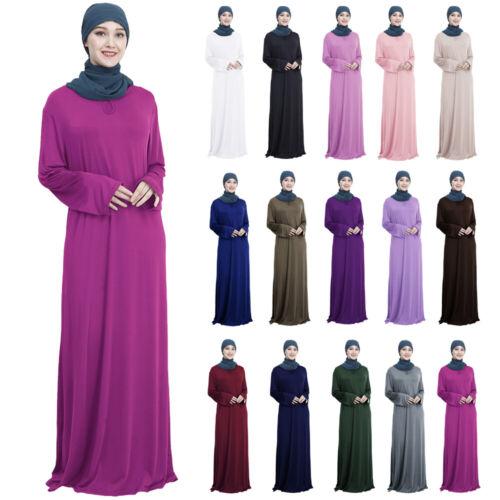Ramadan Abaya Muslim Prayer Women Arab Dress Long Maxi Robe Kaftan Jilbab Islam