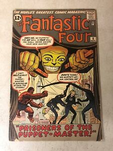 Fantastic-Four-8-1ST-PUPPET-MASTER-key-issue-1962-STAN-LEE-human-torch-KIRBY