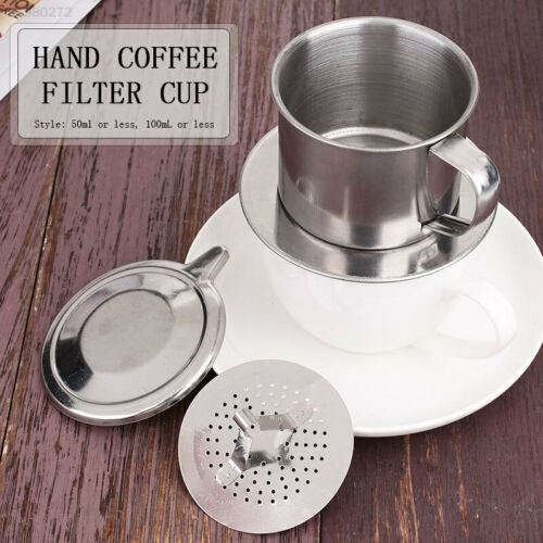 0793 2 Size Stainless Steel Coffee Filter Cup Portable Vietnam Cup Coffee Maker