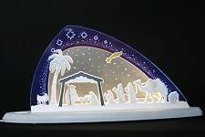 LED Schwibbogen Neu 2017 modern Christi Geburt Krippe Handwerkskunst Erzgebirge
