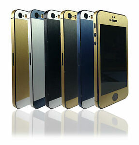 Two-Tone-Metal-Skin-For-iPhone-5-5s-SE-Wrap-Cover-Decal-Sticker-Protector-Case