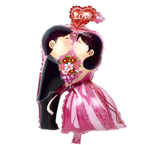 Bride/&Groom Kiss Love inflatable helium balloon Valentine/'s Day Wedding DecorJ/&C